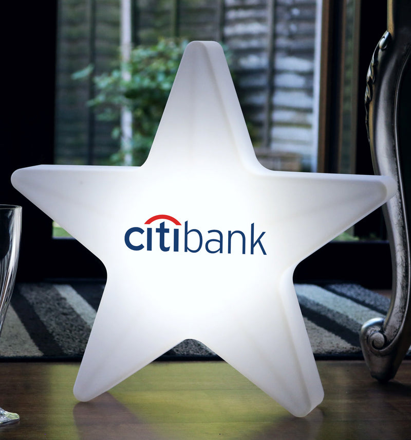 Personalised Illuminated LED Star Light Box, Custom Branded Wireless Table Floor Lamp