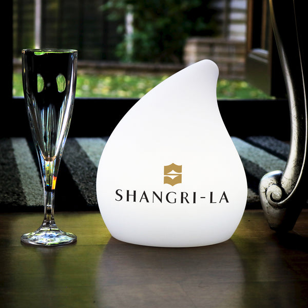 Personalised Designer LED Table Lamp with Logo, Customised Branded Display Sign Light