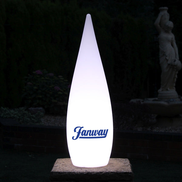 Personalised LED Decorative Floor Standing Lamp, Custom Branded Outdoor Lighting, 80cm