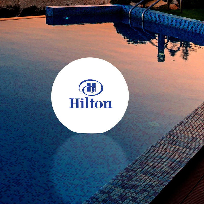 Personalised Floating Pool Light, Outdoor Sphere Lamp, Customised with Logo