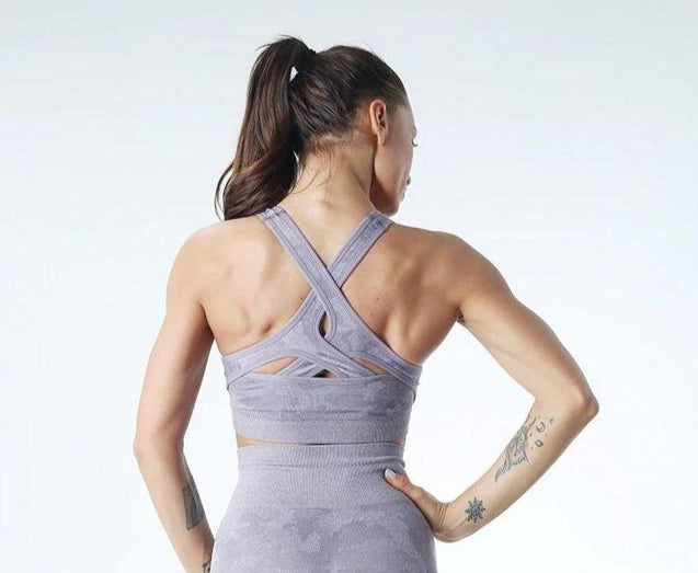 Camo Seamless Sports Bra - UltimateFitGears