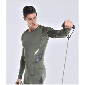 Men's Compression Running Shirts - UltimateFitGears