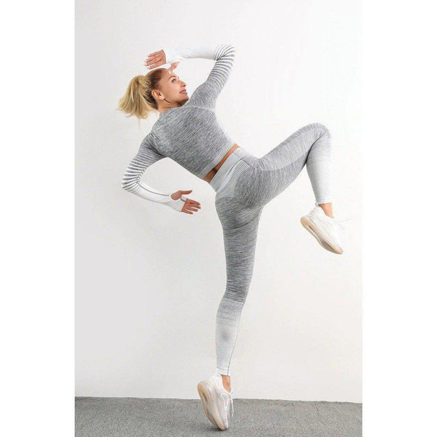 Performance Seamless Duo-Set | Leggings + Long Sleeve Top - UltimateFitGears