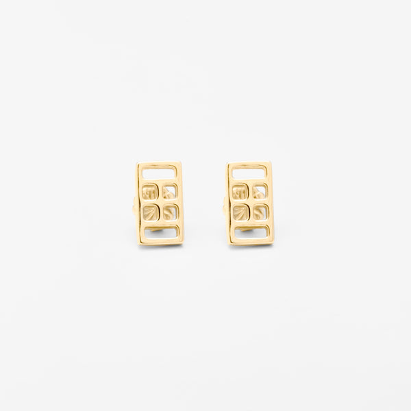 14K Gold Court Icon Earrings
