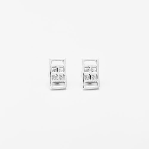 Platinum Court Icon Earrings