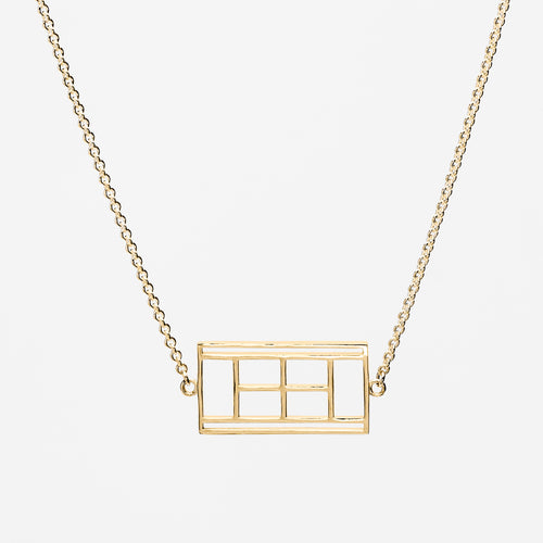 14K Gold Court Icon Necklace