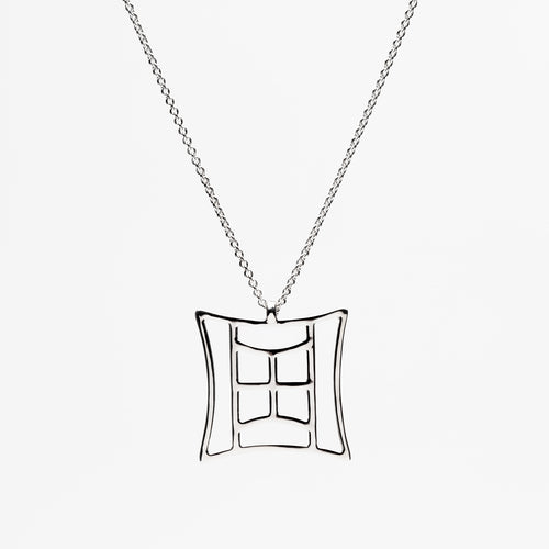 Platinum Court Pendant Necklace