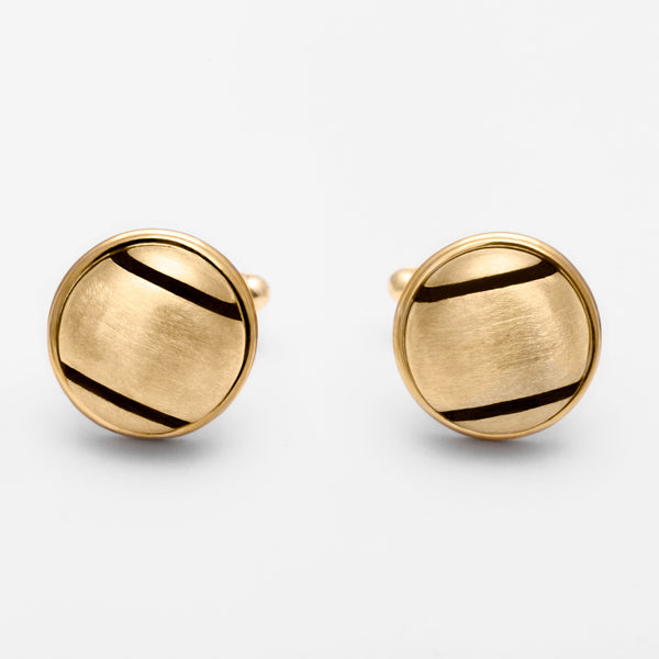 14K Gold Tennis Ball Cuff Links