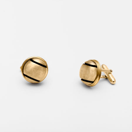 14K Gold Mini Tennis Ball Stud Earrings