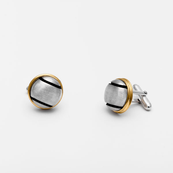 Platinum Tennis Ball Cufflinks