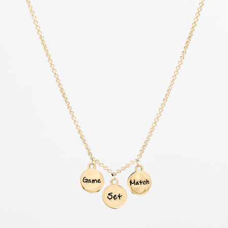 14K Gold Racquet Pendant Necklace
