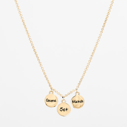 14K Gold Game Set Match Necklace