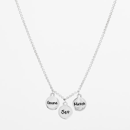 Platinum Racquet Icon Necklace