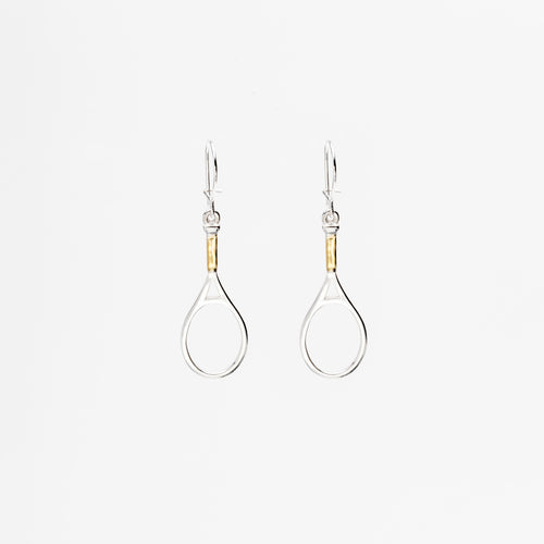 Hanging Racquet Earrings