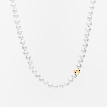 14K Gold Racquet & Ball Lariat Necklace