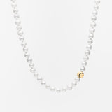 14K Gold & Pearl Tennis Ball Accent Necklace