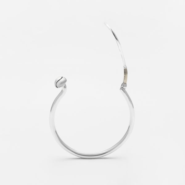 Platinum Racquet & Ball Hook Bracelet