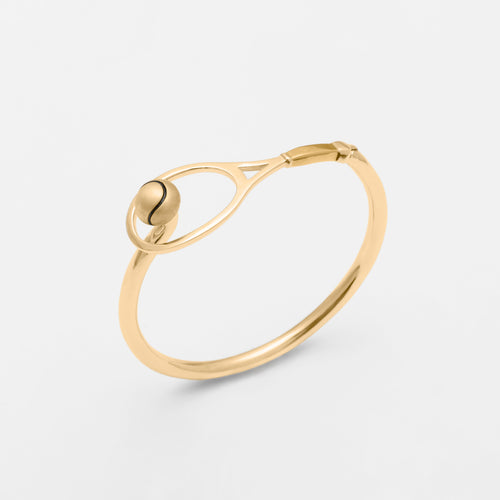 14K Gold Racquet & Ball Hook Bracelet