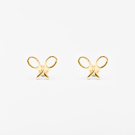 14K Gold Tennis Ball Stud Earrings