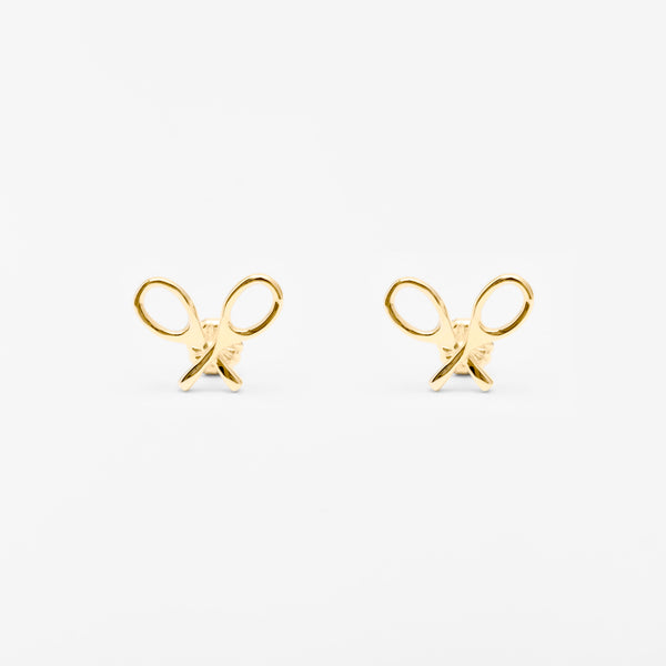 14K Gold Racquet Icon Stud Earrings