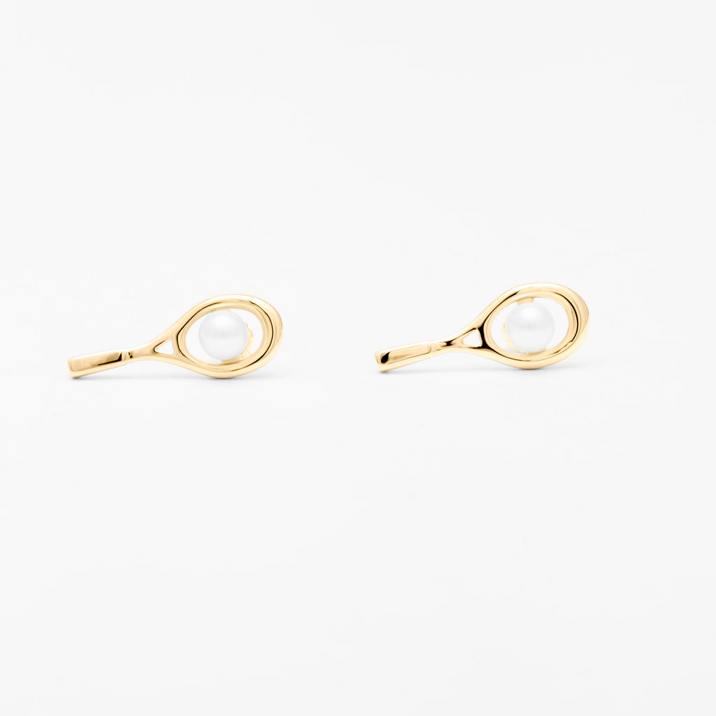bonas white stud jewellery oliver pearl classic earrings