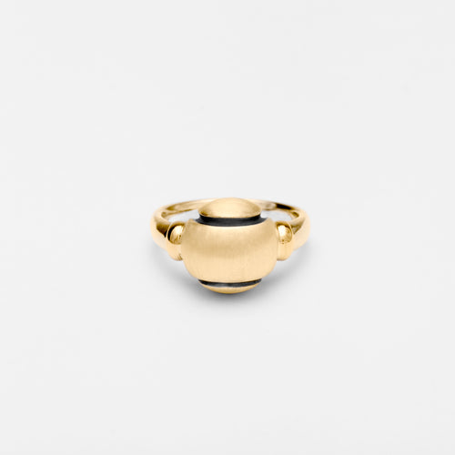 14K Gold Solo Ball Ring