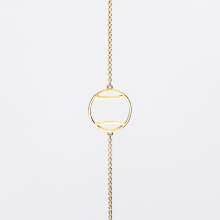 14K Gold Tennis Ball Icon Necklace