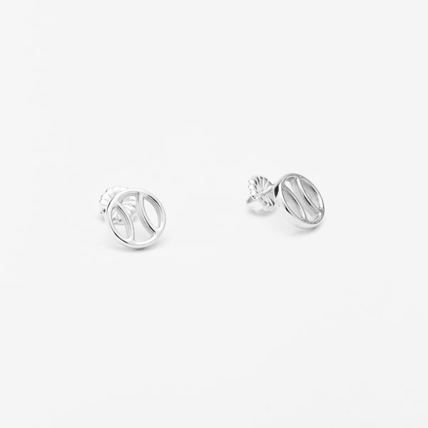 Tennis Ball Icon Stud Earrings