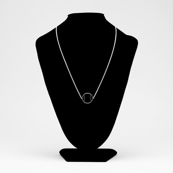 Platinum Tennis Ball Icon Necklace