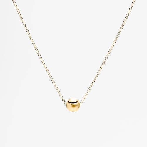 Gold Tennis Ball Pendant Necklace