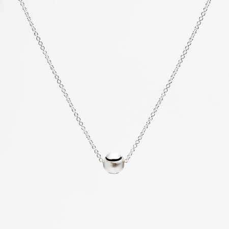Platinum Racquet Pendant Necklace