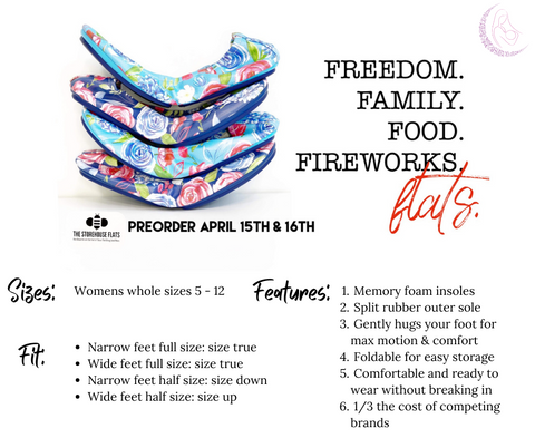 the storehouse genuine leather ballet flats foldable shoes freedom collection red white blue floral