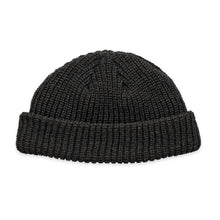 Load image into Gallery viewer, Black Fisherman Micro Beanie