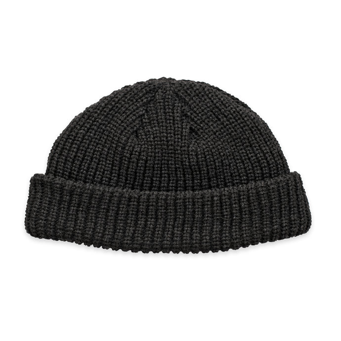 Black Fisherman Micro Beanie
