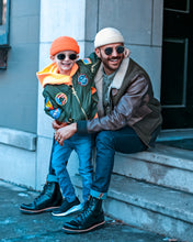 Load image into Gallery viewer, Father & Son Wearing Micro Beanies