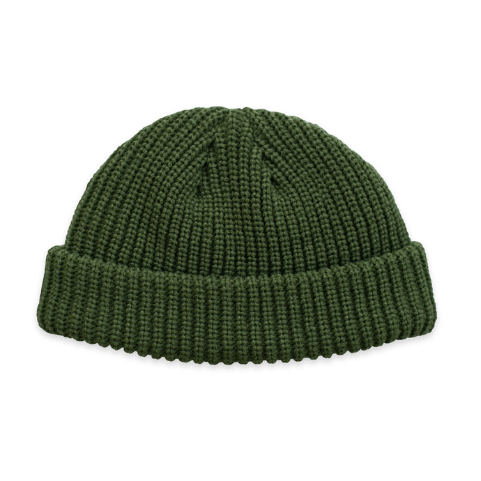 Green Fisherman Micro Beanie