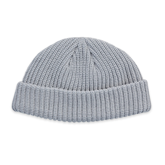 Grey Fisherman Micro Beanie