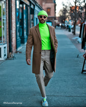 Load image into Gallery viewer, Menswear Outfit Wearing Neon Beanie Hat