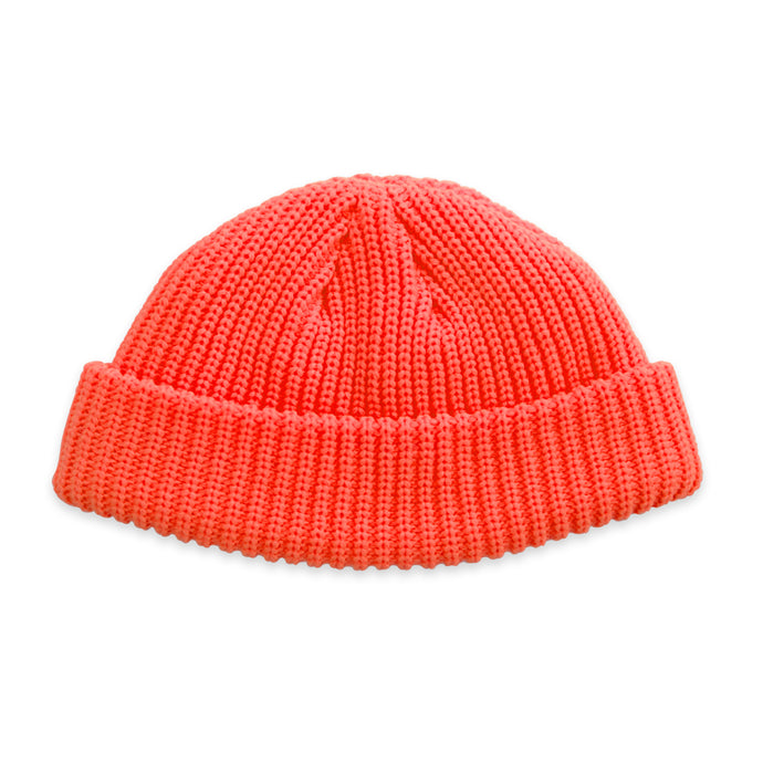 Neon Orange Fisherman Micro Beanie