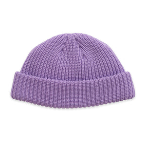 Purple Fisherman Micro Beanie