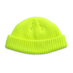 Neon Yellow Fisherman Micro Beanie