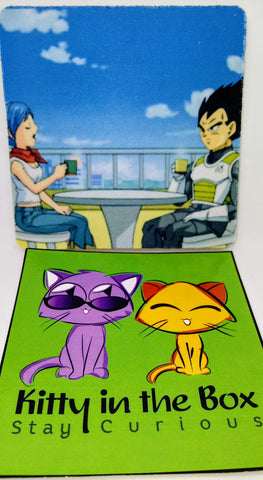 Coaster - Dragon Ball Super - Bulma and Vegeta - Water Absorbent