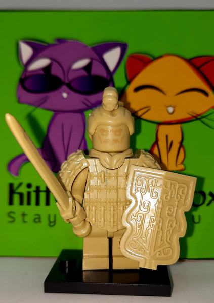 Terra Cotta Warrior - General with Sword and Shield - Figure Compatible with Lego