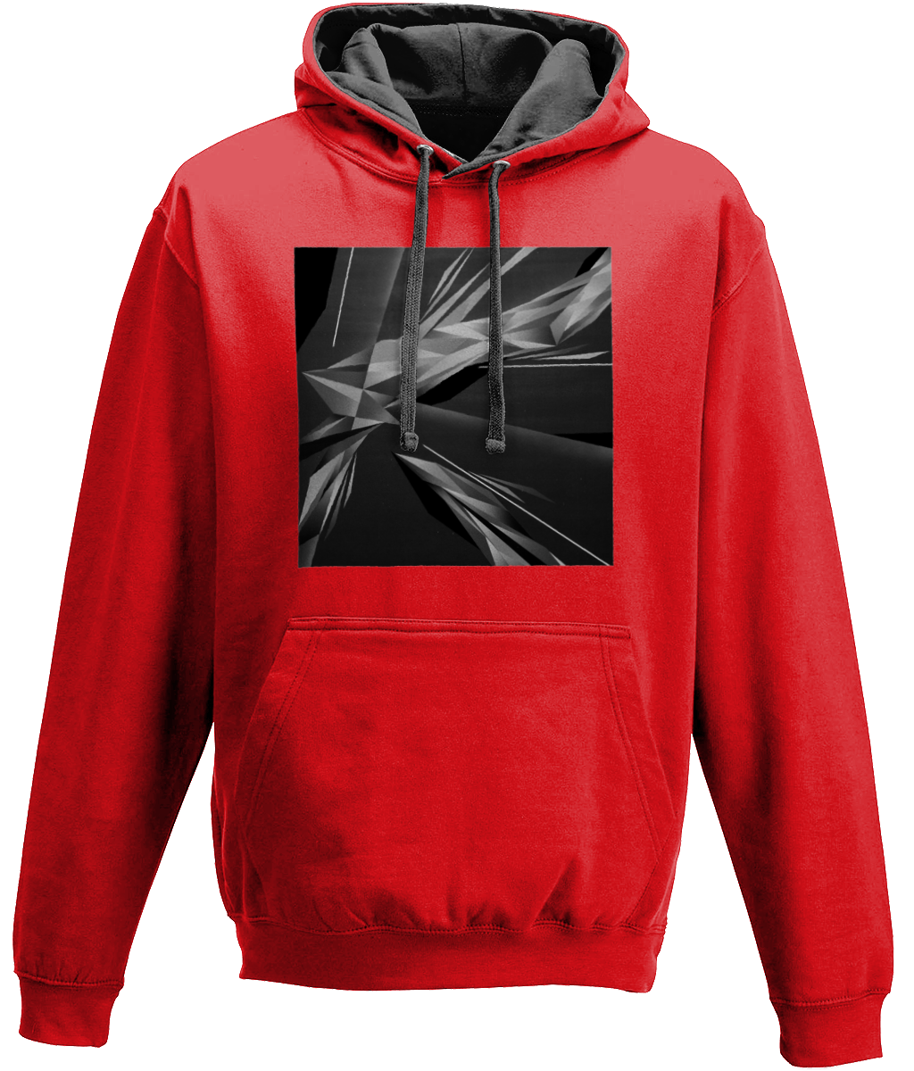 #ArtIt- urban artwear making streetwear out of contemporary art: A. Platkovsky red hoodie delivered print on demand