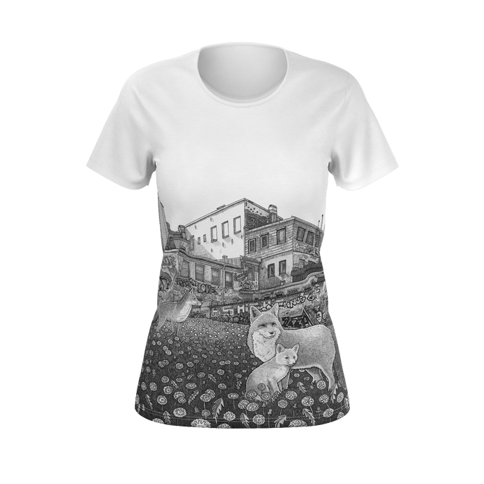 I.T. Hammar The neighbourhood all-over print 100% cotton t-shirt - white seams