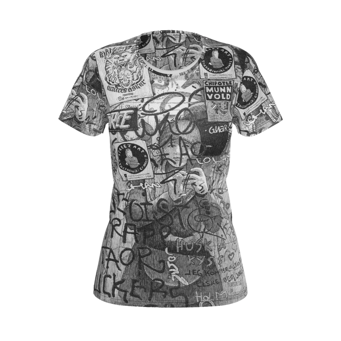 I.T. Hammar Self Portrait in the Loo all-over print 100% cotton t-shirt