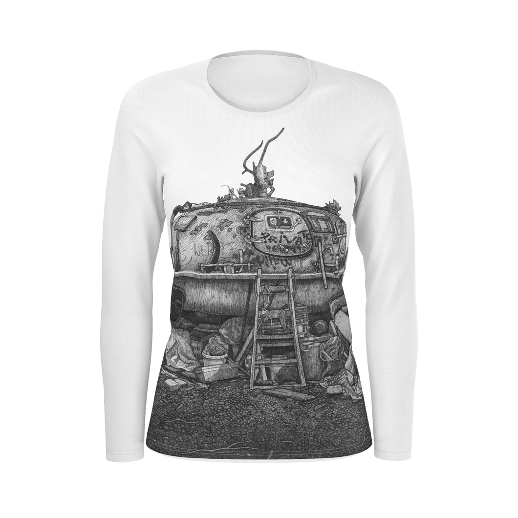 I.T. Hammar Hideaway all-over print cotton slimfit  longsleeve