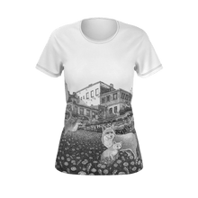 Load image into Gallery viewer, I.T. Hammar The Neighbourhood all-over print 100% cotton t-shirt - black seams