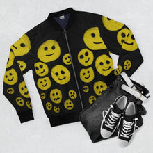 Load image into Gallery viewer, R. Wolff SØ Smileys all-over unisex bomber jacket