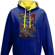 Load image into Gallery viewer, #ArtIt- urban artwear making streetwear out of contemporary art: Jane Indigo blue hoodie delivered print on demand